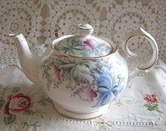 Gorgeous Queen Anne Orchid tea pot