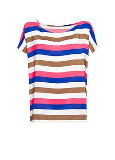 MANGO - Multicolor striped top