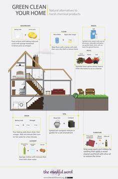GREEN CLEAN YOUR HOME: Natural alternatives to harsh chemical products [infographic]
