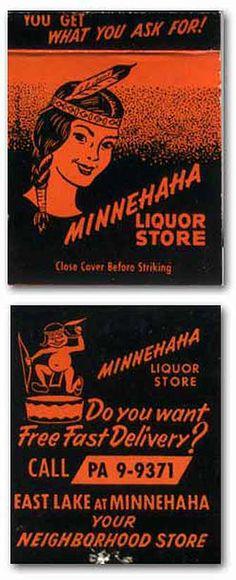 Matchbook Minnehaha Liquor Store