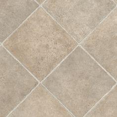 Shop IVC 13.167-ft W Sahara 537 Tile Low-Gloss Finish Sheet Vinyl at Lowes.com /kitchen floor