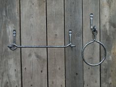 Hand forged towel ring and paper towel holder #handmade #kitchen #towel