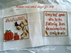 Happiness is Cross Stitching : Kims beautiful gift, a free pattern in progress for Autumn