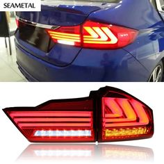 250.90$  Watch now - http://alifev.worldwells.pw/go.php?t=32681259381 - 1 Pair Car-styling Led Rear Light Taillight DRL Signal+Brake+Reverse Lamp Car Accessories For Honda City GM6 6th 2014 2015 2016