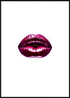 Burgundy Lips Fashion Posters, Burgundy Lips