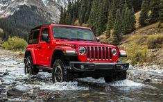 Indir duvar kağıdı Jeep Wrangler Rubicon, dağlar, nehir, 2018 araba, yeni Wrangler, SUV, Jeep Wrangler, offroad, Jeep