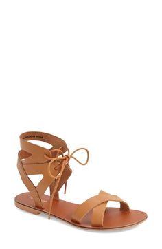 Topshop 'Herb' Lace-Up Flat Sandal (Women)