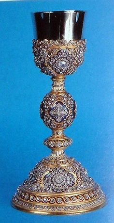 This chalice was a gift from Sultan Absul Medji to Pope Pius IX in 1846.