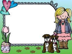 School Frame, Borders And Frames, School Themes, Children, Kids, Kindergarten, Clip Art, Printables, My Favorite Things