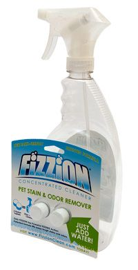 Jackson Galaxy recommends Fizzion for cat urine odor and stain removal
