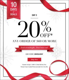 Avon Discount - 10 Days of Deals - Day #3: Save 20% on your online order of $60 or more! Use coupon code: 20HOLIDAY at http://eseagren.avonrepresentative.com #avon #discount #christmas2014