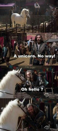 """A unicorn. No way!"" - Richard #Galavant----> and i give to you Cain the man who smashed in his brothers skull with a rock."