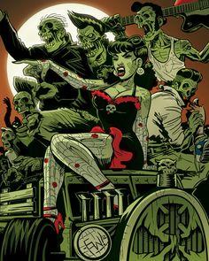 Rockabilly Zombie Queen Final by * EryckWebbGraphics