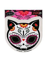 HOTTOPIC.COM - Cat Sugar Skull Sticker