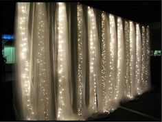 twinkle lights wrapped in tulle