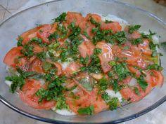 Ψάρι γλώσσα με λαχανικά στό φούρνο ! ~ ΜΑΓΕΙΡΙΚΗ ΚΑΙ ΣΥΝΤΑΓΕΣ Shrimp, Curry, Meat, Ethnic Recipes, Food, Curries, Essen, Yemek, Meals