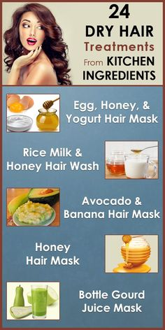 Whether you have long hair or short, curly or straight hair, every woman's dream is smooth, silky and healthy hair. But, not everyone is blessed with lustrous and beautiful locks. Some of us are born with hair that is dull, dry, and frizzy by nature. Here are the best dry hair kitchen treatments you can try at home for soft, healthy and manageable hair.