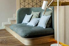 Sofá diseñado a medida para La Suite de Finca Montesqueiro por MAS·Arquitectura #furniture #design #architecture #interior #interiordesign #diseño #mobiliario #arquitectura #interiorismo #fincamontesqueiro