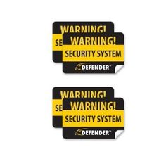 Defender SP100-ST 4 Pack of Window Warning Stickers with UV Fade Protection (Black) by Defender. $4.99. Posting warning signs is a simple and effective way to deter criminals from targeting your property. The SP100-ST gives you that extra security boost. Protect yourself against theft, vandalism and property damage by letting visitors know your home or business protected with a video security system. Prevent suspicious people from approaching your entrances and gain peace of mind...