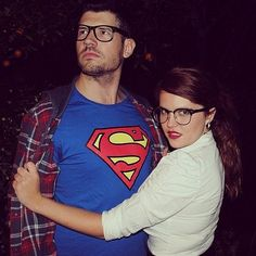 Superman and Lois Lane: Geeky chic and supersweet.