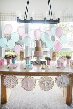 Vintage First Birthday Tea Party on Kara's Party Ideas | KarasPartyIdeas.com (12)