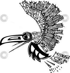 Illustration about Mythical flying Raven rendered in Northwest Coast Native style. Illustration of raven, bird, indian - 9694336 Crow Art, Raven Art, Free Clipart Images, Royalty Free Clipart, Chicano, Flying Raven, Raven Pictures, Tarot, Quoth The Raven