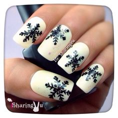 snowflakes by sharingvu #nail #nails #nailart