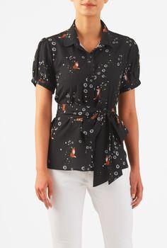 Women's Fashion Clothing 0-36W and Custom  ---  How cute is that fox print??