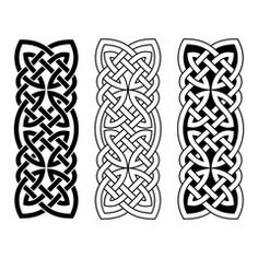 Celtic national ornament interlaced tape. Black ornament isolated on white background. - Buy this stock vector and explore similar vectors at Adobe Stock