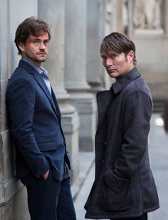Dr. Hannibal Lecter & Will Graham (I love everything about this)