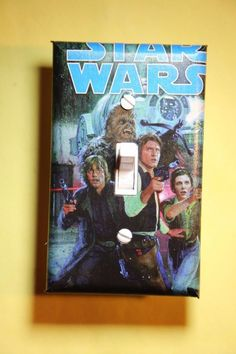 Star Wars Luke Skywalker Leia Han Solo Light Switch Cover room home decor comic