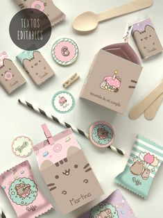 Party Set, Cat Party, Party In A Box, Pusheen Birthday, Cat Birthday, Pushing Cat, Planet Drawing, Pusheen Plush, Little Box