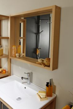 oglinda- Set Mobila Baie Olivia | #Mobila Bathroom Medicine Cabinet, Cabinet, Bathroom, Settings