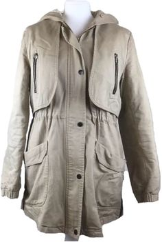 858cef56b7f Womens Beige Attentiff Hooded Coat Size S  fashion  clothing  shoes   accessories