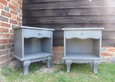 Grey Shabby Chic Bedside Tables | Vintage Furniture Barn