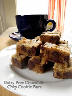 Teacher Cooks Edition! Dairy Free Chocolate Chip Cookie Bars