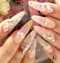 pastel colors brilliant sweet nail #plusG #nail #nailart #naildesign