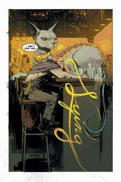Una pin up di Saga disegnata da Murphy e colorata dalla Staples
