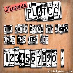 License Plates Font   dafont.com