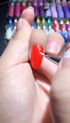 Simple nails art design video Tutorials Compilation Part 88 - - Nail Art Designs Videos, Nail Design Video, Simple Nail Art Designs, Winter Nail Designs, Easy Nail Art, Gel Nail Designs, Gelish Nails, Diy Nails, Winter Nails