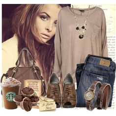 Totally cute hanging out and going to the mall outfit. Even love the snacks to go with it.