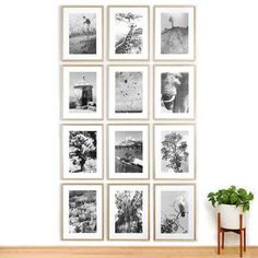 Assembling a gallery wall can be overwhelming. Thats where Framebridge comes in. The custom framing service launched a new tool today aimed at helping regular folks design and hang a gallery wall like a professional interior designer. Gallery Wall Layout, Gallery Wall Frames, Frames On Wall, Gallery Walls, Ceiling Grid, Picture Frames Online, Diy Frame, Wall Design, House Design