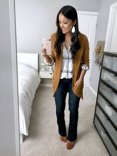 Daily Outfits Outfits for Early Fall - Casual and Business Casual - Mode - Casual Mode, Casual Work Wear, Casual Work Outfits, Work Attire, Casual Fall, Cute Outfits, Fall Business Casual, Fashionable Outfits, Plaid Shirt Outfits