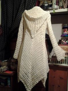 Crochet jacket-back