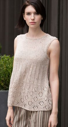 Lafayette Tunic sleeveless top, pattern available from Interweave via intheloopknitting.