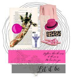"""Bubble gum giraffe"" by creativepanda1 ❤ liked on Polyvore featuring Topshop, Sam Edelman, Edie Parker, Pink, Bubblegum and giraffe"