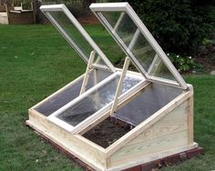 Wow - I've always wanted a cold frame for my garden. Maybe I can get The Coach to build me one?