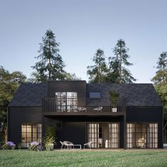it's perfect. The Lewis exterior saga continues. // design via // Modern Barn House, Garden Deco, Fancy Houses, Mountain Modern, Shed Homes, Pergola, Next At Home, Minimalist Home, Black House
