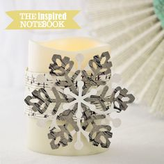 Easy Snowflake Candle Wraps