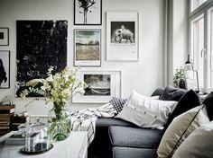 Apartamento - Branco e preto, simples e elegante